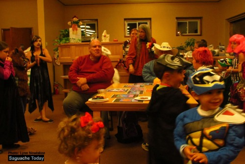 The Saguache library was packed with life as kids came to the annual party dressed up as their favorite character. Photo: Photo: Lynn Nowiskee/Saguache Today.