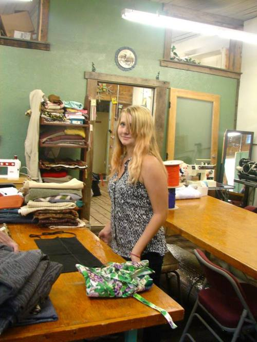 Marian Glenn has been making the beautiful Homegrown Totes that have been selling up and down the San Luis Valley. Photo: Saguache Works