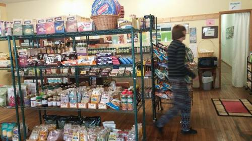 The weekly truck arrives with more food to re-stock the shelves at the 4th Street Food Store in Saguache. Photo: Lynn Nowiskee/Saguache Today.