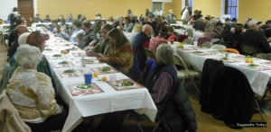 It was a packed house at the Thanksgiving Community Meal in Sagauche on November 22.