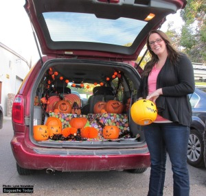 There was no shortage of Halloween goodies during the Annual Trunk or Treat at the Annual Halloween event. Photo: Lynn Nowiskee/Saguache Today.