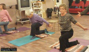 Breathe and movement are pathways to keeping the organs healthy and joints lubricated through gentle yoga. Photo: Lynn Nowiskee/Saguache Today