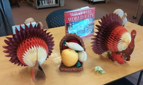 "The Saguache Public Library held another fun educational program for the kids last week, This one focused on ""What the World Eats,"" in anticipation of the big feast of Thanksgiving. Photo: Lynn Nowiskee/Saguache Today."