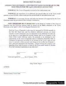 Town Law enforcemnet ballot initiative Resolution 2016_D