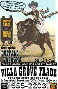 The Day The Music Died in Villa Grove: January 6, 2016. Owners reported that they will no longer be able to provide live music shows like the popular Fred Hargrove due to threats of lawsuits by ASCAP and BMI.