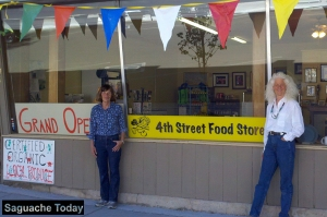 Co-Founders Marge Hoglin (left) and Lindy McDaniel (right) announced the Grand Opening of the 4th Street Food Store in summer of 2013, providing healthy, local foods to the community. Photo: Saguache Today