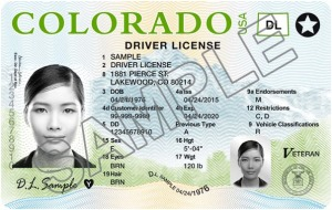 Here's a sample of the new Colorado Driver Licenses that the state started issuing in 2016.