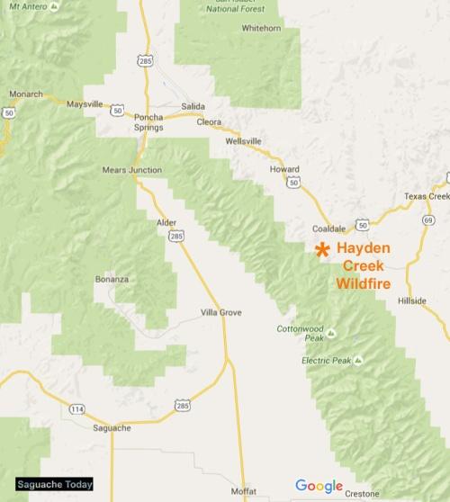 Hayden Creek Wildfire Map_Saguache Today