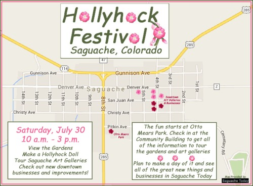 Saguache HollyHock Festival Map