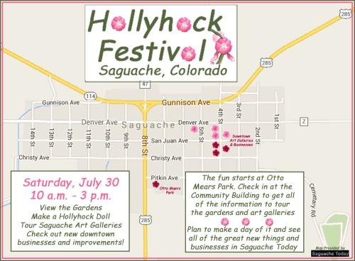 Saguache HollyHock Festival Map