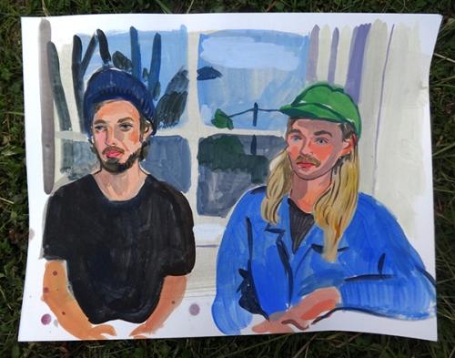 "Entitled ""Aaron Carter and Johan Björk"", here's an original piece by artist Sophy Naess"