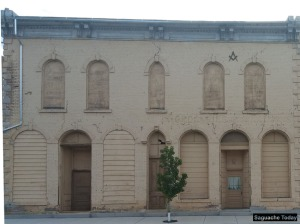 The historic Masonic Building at 4th & San Juan in downtown Saguache is the site of The Friends of Saguache Library's Used Book Sale, continuing through Laboy Day, Monday, Sept. 5