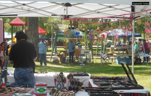 A popular event among area vendors, the Saguache Pow-Wow offers everything from food, to jewelry to art, many with a Native American theme. Photo: Saguache Today