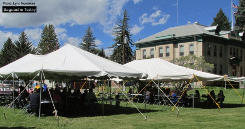 It turned out to be a nice day for the County Employee Appreciation Picnic at the Saguache County Courthouse on September 15. Thanks for all you do! Photo: Saguache Today/Lynn Nowiskee