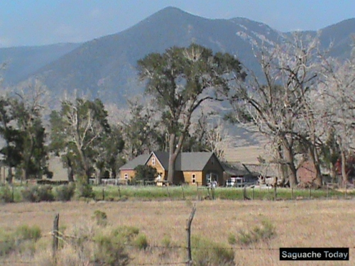 The Orient Land Trust's historic Everson Ranch sits at the base of the Sangre de Cristos Mountains in the San Luis Valley. Photo: Saguache Today.
