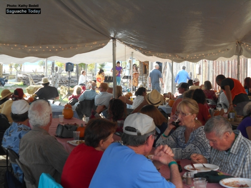 Attendees of the inaugral Harvest Dinner and Dance at the historic Everson Ranch were treated to ranch grown and fed foods, some lively music, and locally brewed beer and wine. Photo: Saguache Today/Kathy Bedell