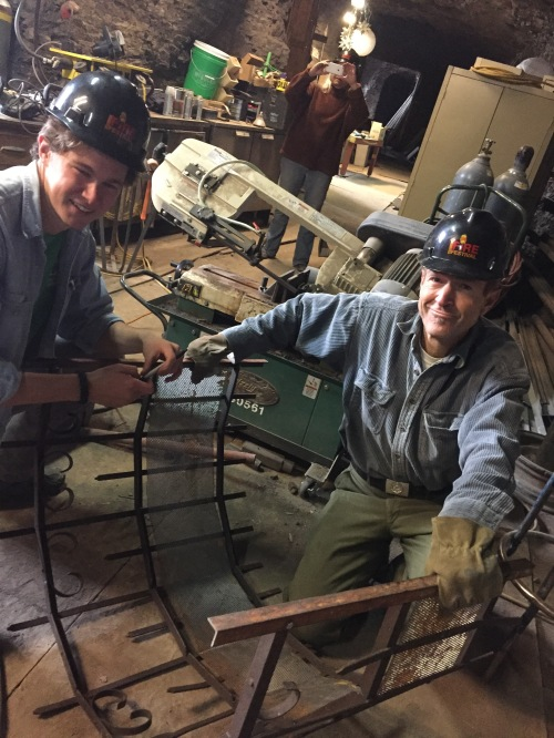 Students (left to right): Alex Willard & Chris Myers in The Mine. Photo: Telluride Fire Festival.