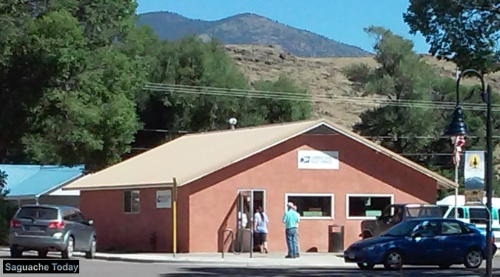 Make sure you get your holiday packages to the Saguache Post Office in time or they won;t arrive on time! Photo: Saguache Today/Kathy Bedell