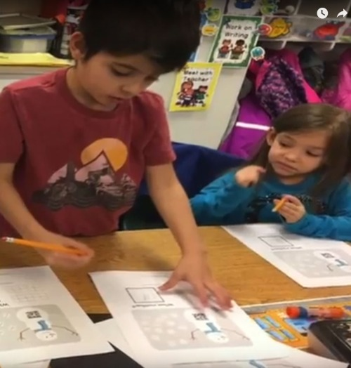 Students in Saguache Today are back to their first full week of school after the holiday break. Make it a Great New Year! Photo: Mountain Valley School Video Newsletter.