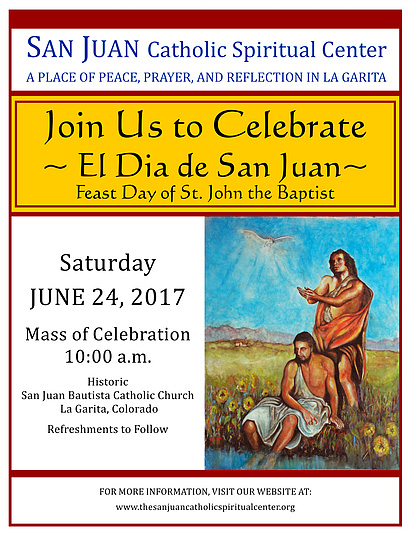St John Feast Day san Juan Catholic Center