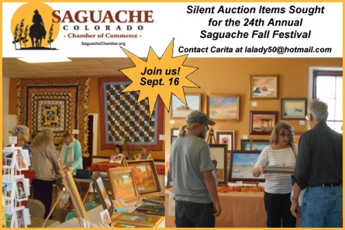 Silent Auction Items Sought_Saguache Chamber_Fall Festival_Saguache Today