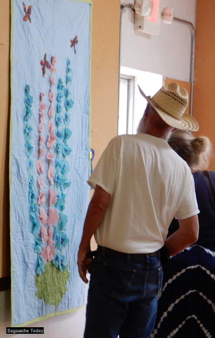 Quilt art contest Chamber at Saguache HollyHock Festival