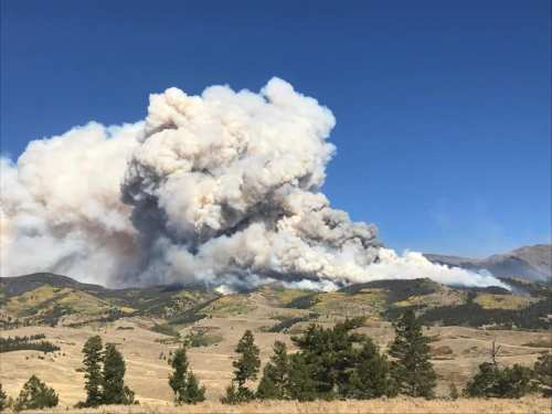 The Decker Wildfire encountered fierce winds on September 30 as crews fight to contain the blaze which began September 21.
